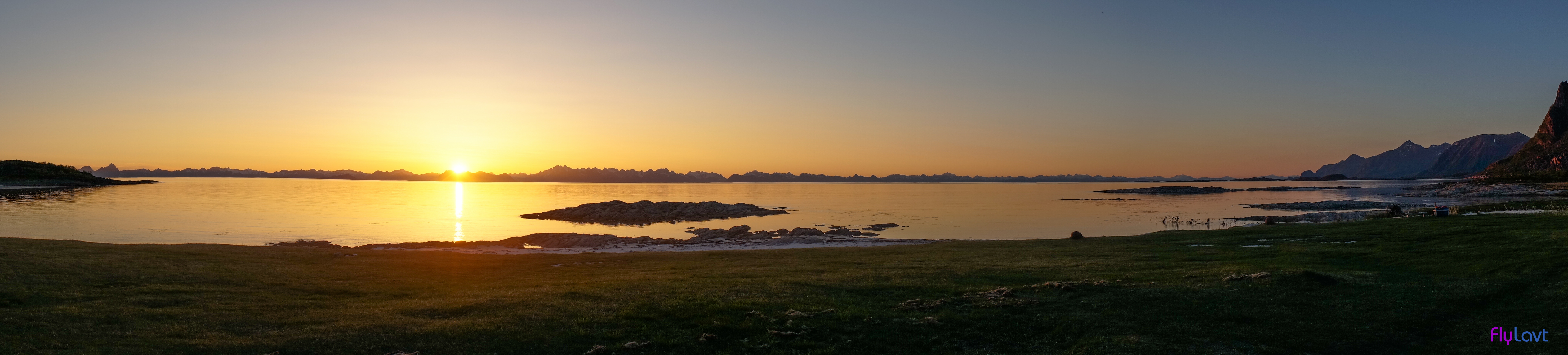 Solnedgang på bø