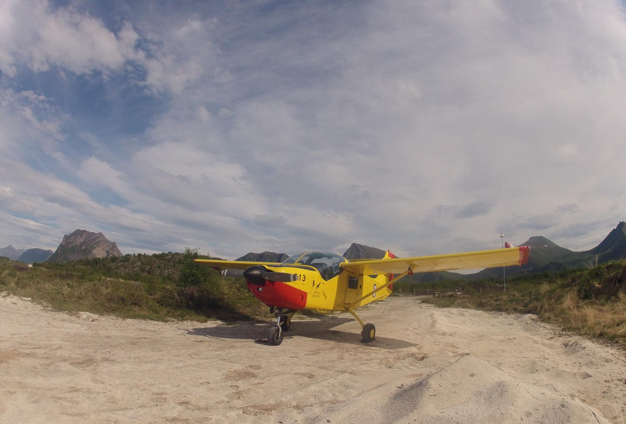 Luftforsvarets flygeskole  på Bardufoss sitt SAAB Safari skolefly